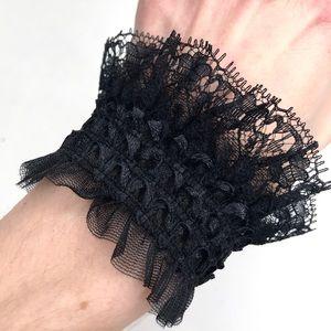 Trixy Xchange Black Stretch Lace Gothic Bracelet